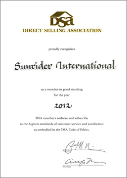 Awards honors 2012 direct selling association certificate of good standing yadclub Images