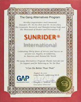 Sunrider Certification Awards Amp Honors Sunhealth Az